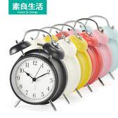 電子鬧鐘創意學生床頭可愛兒童夜光靜音歐式時鐘懶人打鈴金屬鐘錶