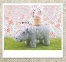心動小羊^^可愛仿真河馬 美麗諾羊毛羊毛氈材料包(不含木桶)