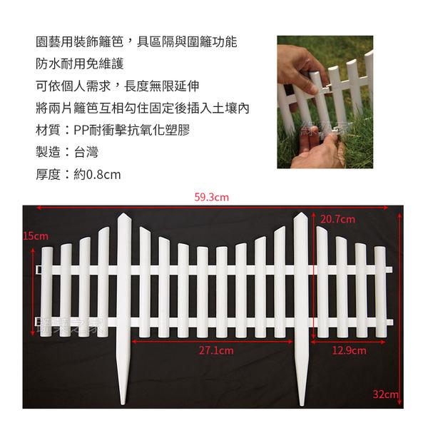 【綠藝家】仿尖木籬笆3片/組