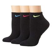 Nike耐吉- 女3包組運動襪(黑色)