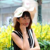 旅行沙灘遮陽帽女夏休閒百搭太陽帽夏季出游防曬兒童親子帽 愛麗絲精品