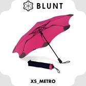 【BLUNT 紐西蘭 XS_METRO UV自動折傘《艷桃紅》】BLT-X01/摺疊傘/自動傘/雨傘/晴雨傘