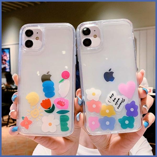蘋果 IPhone12 Pro Max 12Pro 12Mini IPhone11 XR XS iX i8+ i7+ SE 七色花液態殼 手機殼 全包邊 軟殼 保護殼