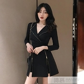 時尚套裝女裝潮2020秋冬新款韓版氣質洋裝 高腰短褲洋氣兩件套 母親節特惠