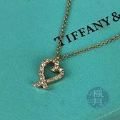 BRAND楓月 TIFFANY&CO. 2.3G YG LOVING HEART 滿鑽 項鍊 配件 飾品 配飾