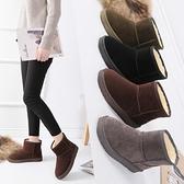 雪靴 新款韓版冬季雪地靴女短筒靴加絨加厚情侶短靴男棉鞋學生女靴   夏季新品