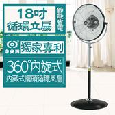 【2入特惠組】中央牌 專利內旋式18吋基本款循環扇 KZS-1845CaP (台灣製)