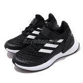 adidas 慢跑鞋 RapidaRun EL K 黑白 魔鬼氈 童鞋 女鞋 【ACS】 EF9258