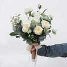 森系干花新娘手捧花