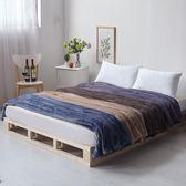毛毯加厚單人雙人空調毯床單午睡毯「巴黎街頭」