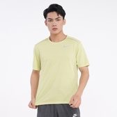 NIKE 短T DRI-FIT 螢光黃 輕量 透氣 排汗 運動 上衣 男 (布魯克林) AJ7566-367