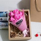 母親節禮物玫瑰假花肥皂花香皂花束仿真浪漫禮物送女朋友表白禮盒 向日葵