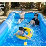充氣泳池 兒童充氣游泳池超大戶外兒童成人戲水家用折疊小孩游泳桶大型加厚 果果生活館