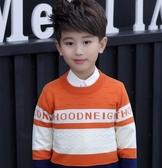 童裝男童毛衣套頭中大童加絨加厚兒童寶寶潮圓打底衫 童趣潮品