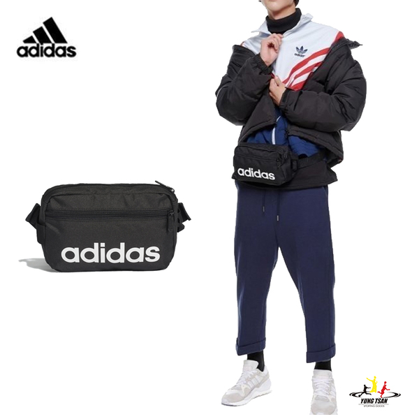 Adidas Linear 黑色 腰包 愛迪達 側背包 運動 休閒 斜背包 多夾層 小腰包 DT4827