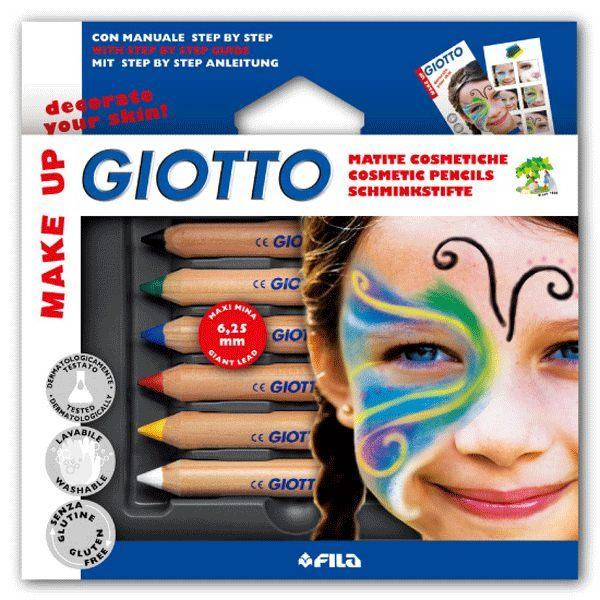 【義大利 GIOTTO】兒童彩妝筆(基本6色/亮彩6色)二款可選擇