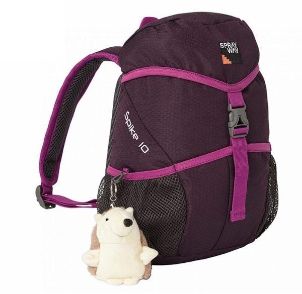 Sprayway 英國 史畢克10升背包 黑栗紅/粉 附娃娃 SP-003187 旅遊 兒童背包 [易遨遊]