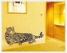 ►壁貼 獵豹 客廳臥室第三代可移除PVC透明膜牆貼紙家裝貼【A3034】
