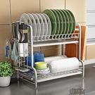 304不銹鋼廚房碗架瀝水架碗筷碗碟架瀝碗架放盤用品收納盒置物架  街頭布衣