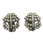 Dior 迪奧 金屬鑲珍珠造型耳夾  【BRAND OFF】