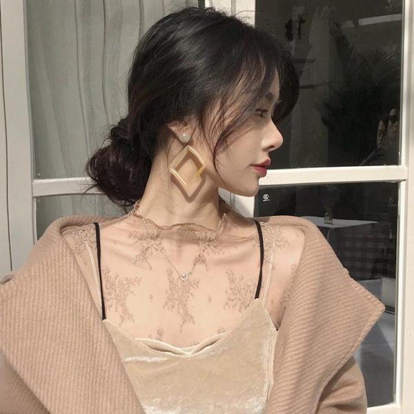百搭高領蕾絲衫女長袖冬季內搭打底衫透明寬鬆正韓網紗超仙上衣 新年免運特惠
