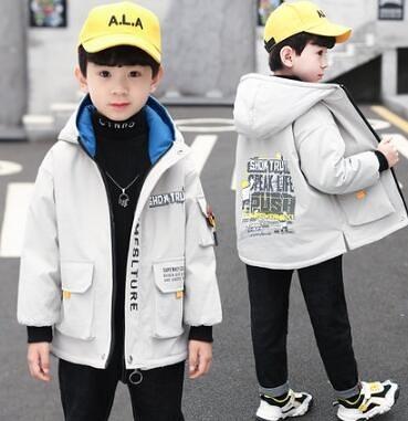 男童外套 春款2021年新款兒童冬裝中大童加絨加厚男孩冬季潮【快速出貨八折搶購】