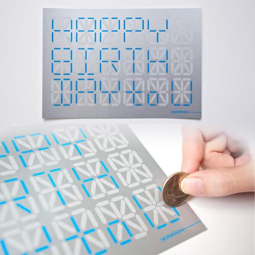 BALANCE WU DESIGN SCRATCH CARD刮刮卡片 二色可選《小婷子》
