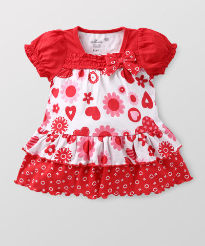 【特惠6折】Hallmark Babies 甜心小熊長絨棉短袖連衣裙 HD1-B02-07-BG-PR