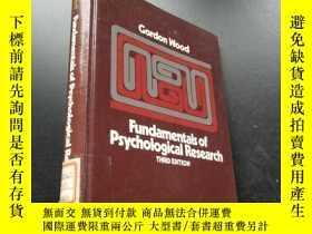 二手書博民逛書店Fundamentals罕見of psychological R
