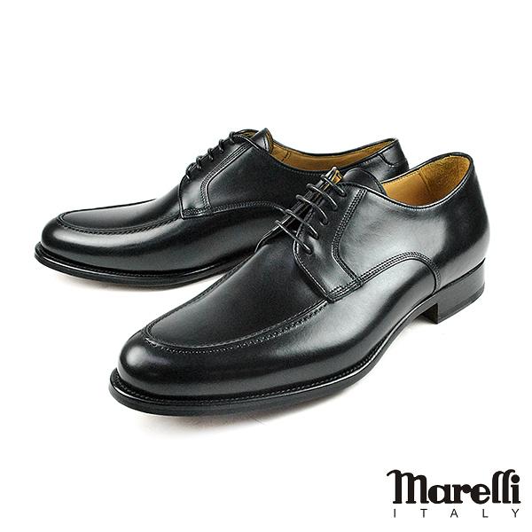 【Marelli】都會U-tip手工德比鞋 黑色(M851-BL)
