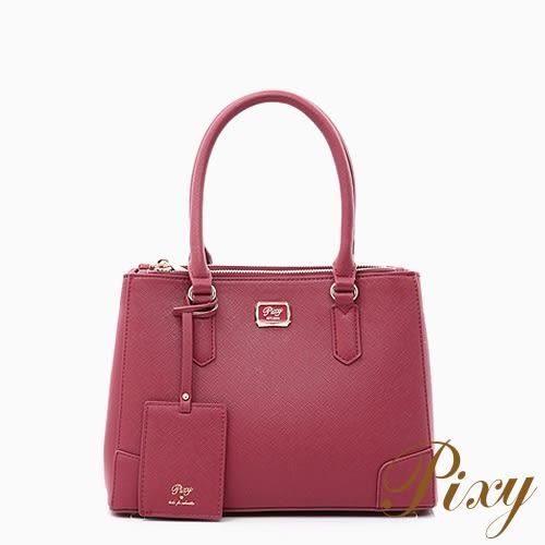 Pixy 三月兔的彩色糖手提包(中) 勃根地紅