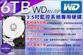 【台灣安防】監視器 監控專用硬碟 6TB WD 3.5吋 6000G SATA 24 小時錄影超耐用 DVR硬碟 6TB