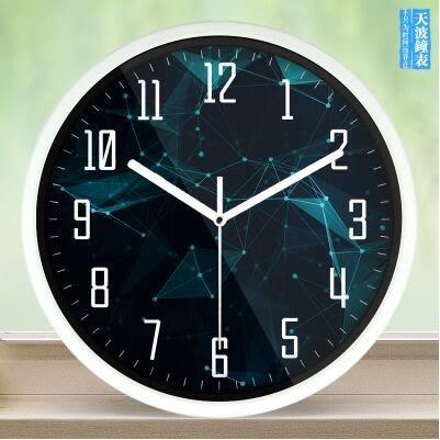 創意客廳鐘錶大個性時鐘靜音臥室時尚復古藝術壁掛錶【508】