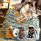 雙層拉舍爾毛毯被子加厚冬季珊瑚絨保暖學生宿舍床單人法蘭絨毯子(免運快出)