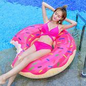 泳圈成人兒童加厚加大游泳圈充氣胖子學游泳MM可愛甜甜圈送打氣筒  晴光小語
