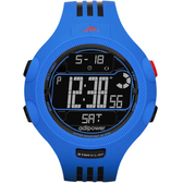 adidas adiPower勁力狙擊大面板電子腕錶(藍黑)