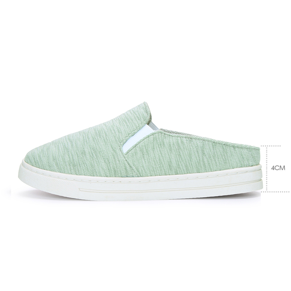 【富發牌】慵懶刷色半拖式穆勒鞋-米/粉/綠  1BQ80