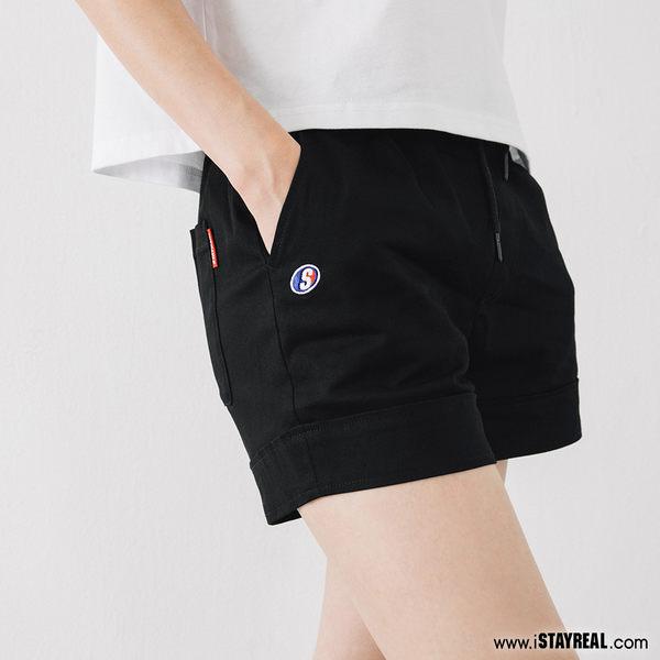 STAYREAL 潮運動抽繩棉斜紋短褲