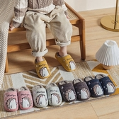 STAR BABY-兒童冬季保暖防滑可愛刺蝟室內拖鞋