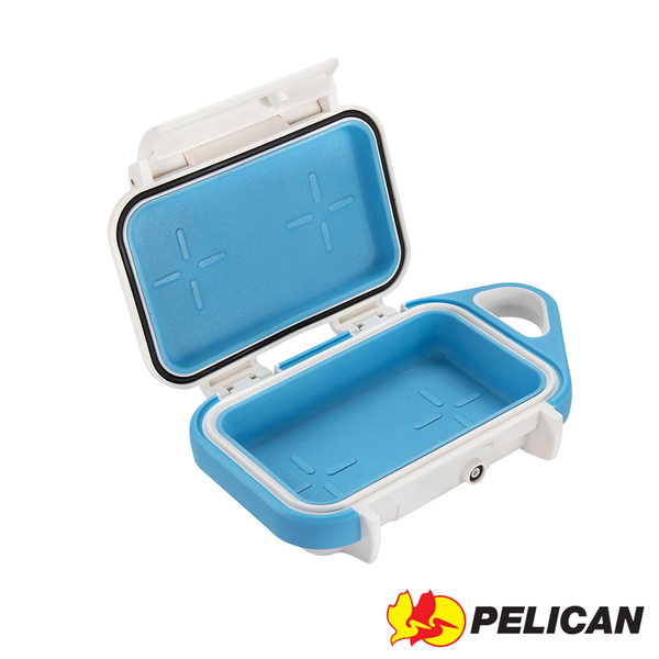 美國 PELICAN 派力肯 塘鵝 G10 防水 微型 小型 氣密箱 藍白色 / 露營 戶外運動 單車 適用