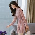 買一送一 韓系名媛氣質蕾絲寬松顯瘦荷葉邊...
