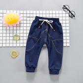 黑五好物節 純棉長褲運動0-1-2-3歲嬰兒外穿單褲可開襠【名谷小屋】