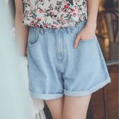 MUMU【P61535】可調式腰圍。百搭顯瘦牛仔短褲/三色(可用鈕扣調整腰圍)。S-2L