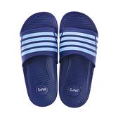 93005潮流雙色帶童拖鞋-藍18
