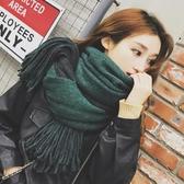 圍巾女冬季韓版百搭兩用雙面純色披肩學生長款加厚保暖圍脖秋冬天 新年禮物