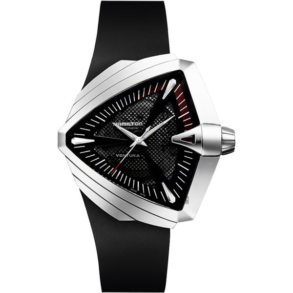 Hamilton漢米爾頓 VENTURA XXL 貓王音箱鏤空機械錶-黑/46mm H24655331
