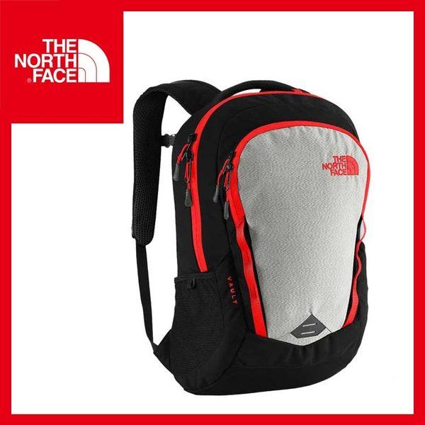【The North Face 27L 15吋電腦背包《黑/火紅》】CHJ0/出國/旅遊/休閒