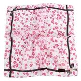 CLATHAS 花卉圖案純綿帕領巾(粉紅色)989265-13