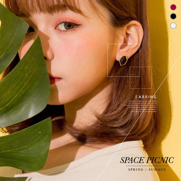 耳環 Space Picnic|現+預.不規則多邊形耳環【C18032011】