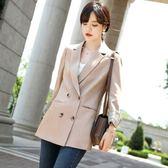 時尚青春反折配色袖排釦直筒長袖西裝外套 [9X406-PF]美之札